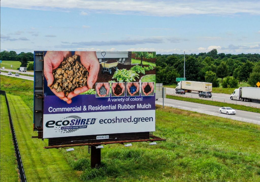 Billboard for EcoShred Rubber Mulch