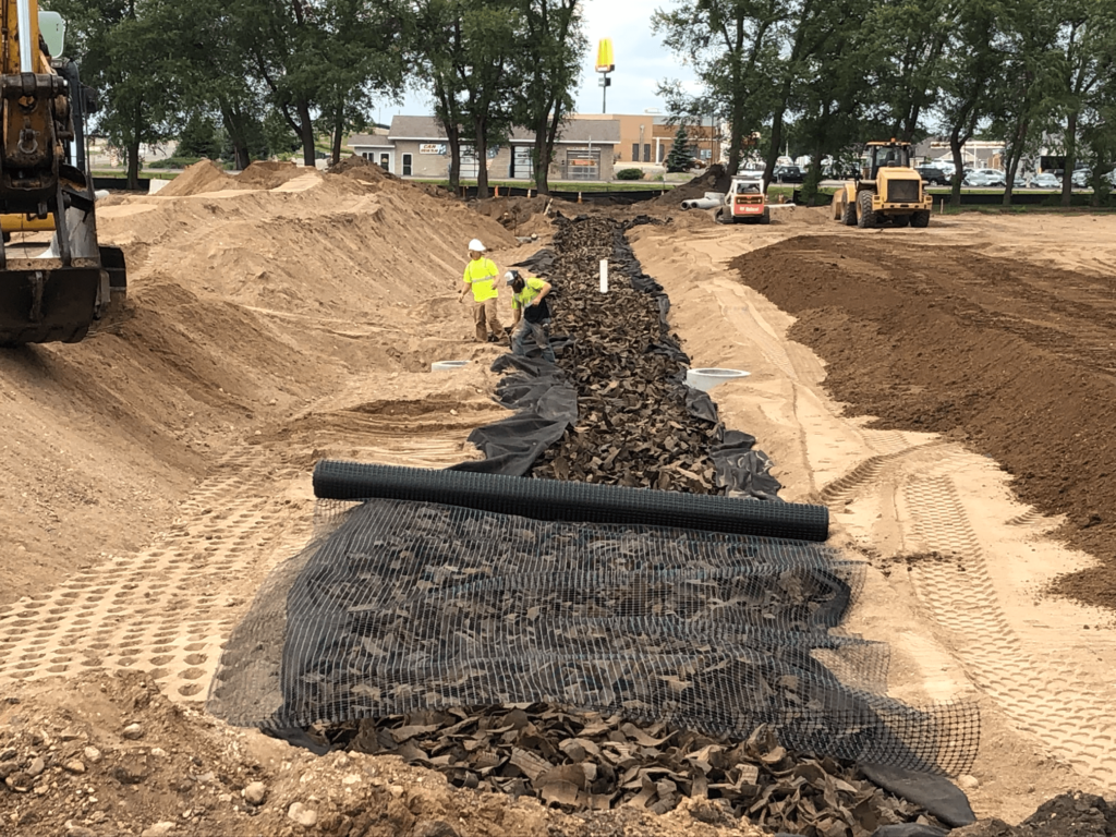 workers installing a TDA stormwater management system